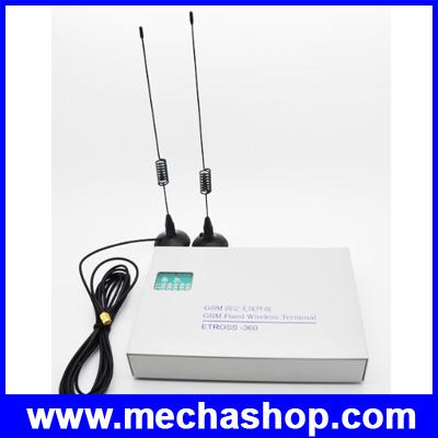 เครื่องแปลงสัญญาณโทรศัพท์มือถือ เครื่องแปลงโทรศัพท์มือเป็นโทรศัพท์บ้าน Etross-360 2 ports 2 sim GSM phone line converter / Dual band (900/1800Mhz)