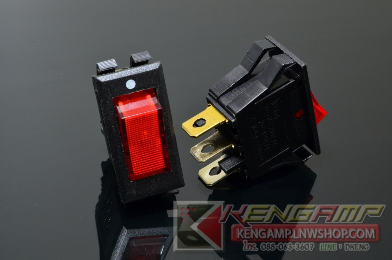 TOGGLE SW-KCD6 RD (5pcs)