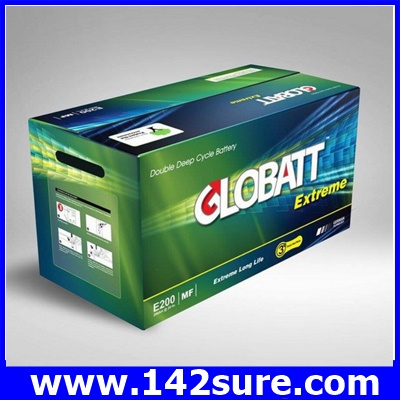 SBD034: GLOBATT EXTREME แบตเตอรี่สำหรับเก็บพลังงานแสงอาทิตย์ ชนิด Deep Cycle Extreme จ่ายกระแสไฟ (CCA)ได้สูงกว่าแบตเตอรี่ทั่วไป GLOBATT EXTREME E170 150AH