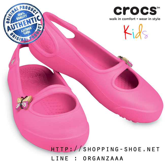J3 (23 cm.) : Crocs Gabby Girl - Neon Pink ของแท้ Outlet ไทยและอเมริกา