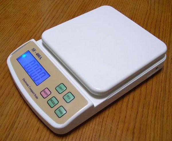 เครื่องชั่งดิจิตอล ตาชั่งดิจิตอล เครื่องชั่งอาหาร เครื่องชั่งน้ำหนัก Digital balance scale 10kg ความละเอียด 1g SF-400A สินค้าเกรด A