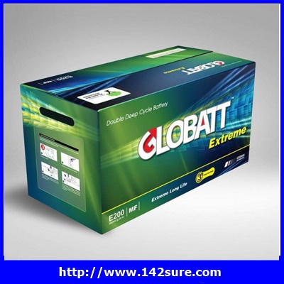 SBD036: GLOBATT EXTREME PLUS แบตเตอรี่สำหรับเก็บพลังงานแสงอาทิตย์ ชนิด Deep Cycle Extreme จ่ายกระแสไฟ (CCA) GLOBATT EXTREME PLUS E1100 100AH