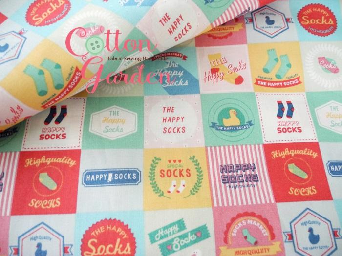 คอตตอนเกาหลีลาย Happy Socks สีหวานน่ารักมากค่ะ