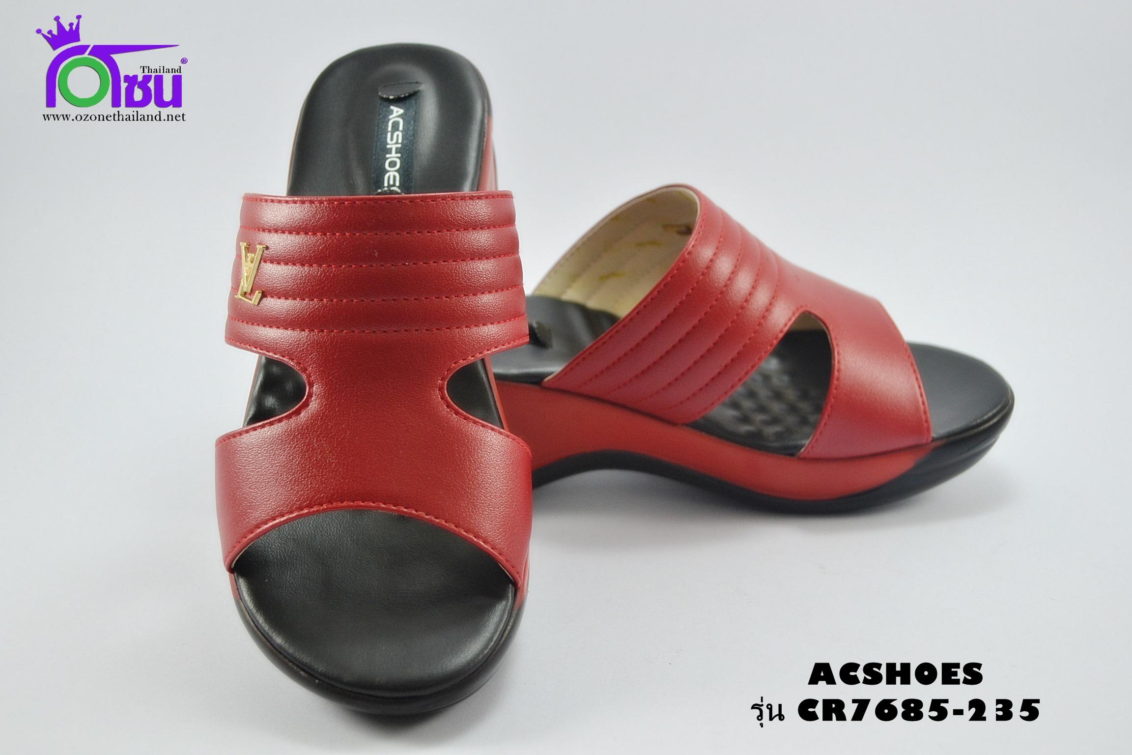 รองเท้าแฟชั่น (PU)หญิง รุ่น CR7685-235 เบอร์ 36-40 สีแดง