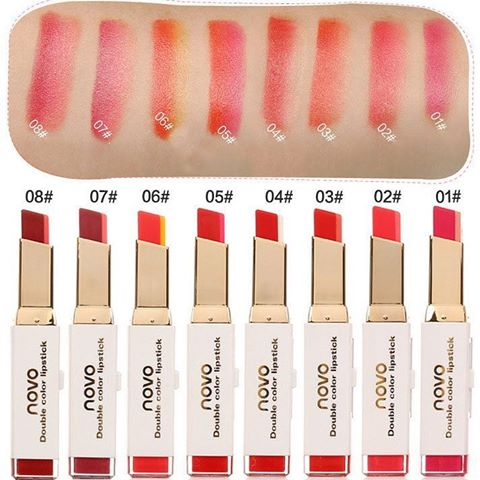 ลิปสติกทูโทน Double บาท Color Novo Lipstick ราคาส่ง 65