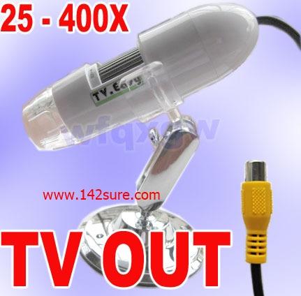 MCP029 กล้องไมโครสโคป NEW TV out 2.0M Pixel Digital Microscope Zoom 25-400X ยี่ห้อ TV easy รุ่น 400X