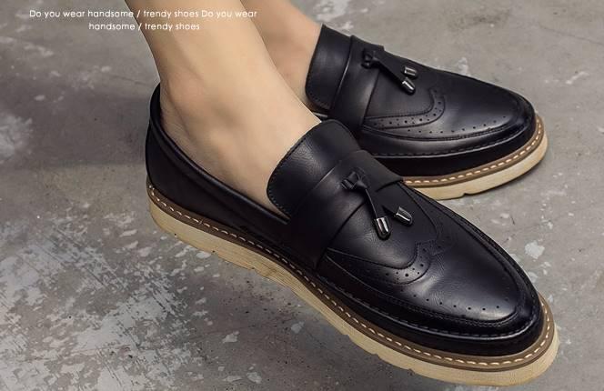 พรีออเดอร์!! รองเท้าloaferหนัง รองเท้าคัทชู แต่งลายปัก ออกฟอร์ด สีเทา ดำ เบอร์ 38-44