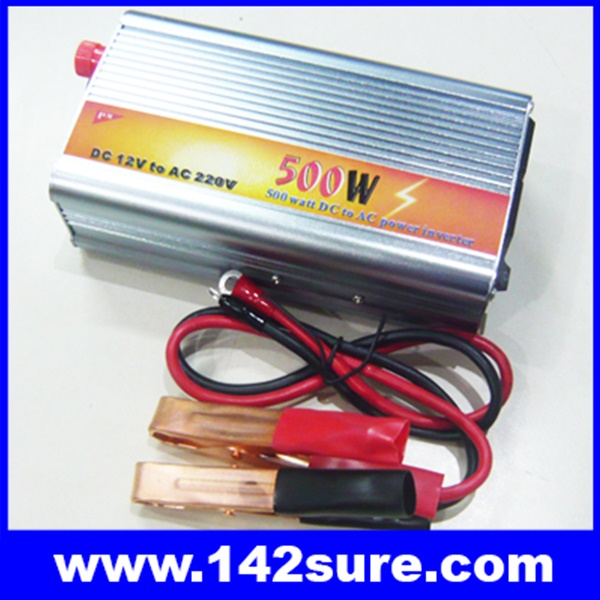 SIN002 อินเวอร์เตอร์ โซล่าเซลล์ ขนาด500Watt Modified Sine Wave Solar Inverter เครื่องแปลงไฟ 12VDC เป็นไฟฟ้าบ้าน 220VAC/50Hz