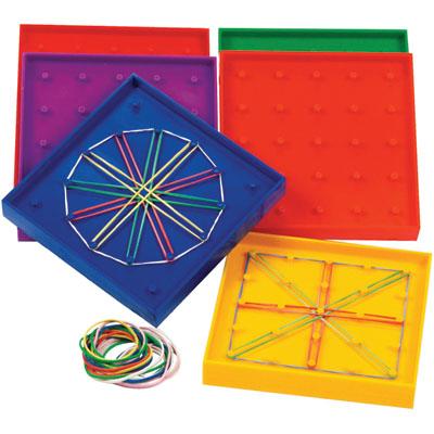 ของเล่นเด็ก ของเล่นเสริมพัฒนาการ Plastic Geoboard Classpack Set of 10
