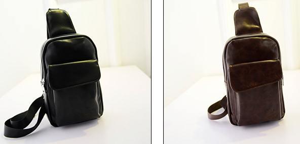 กระเป๋าสะพายเฉียงหนัง ฟลิป PU คลาสสิค สีดำ น้ำตาล แทน