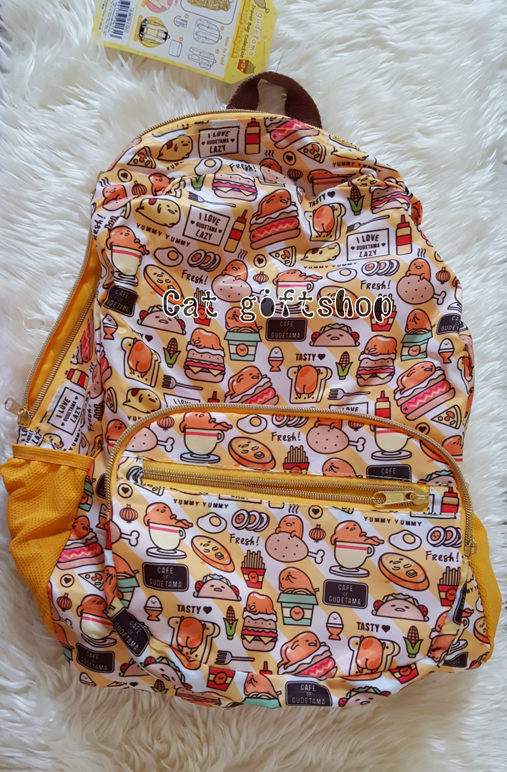 พร้อมส่ง :: กระเป๋าเป้ Gudetama พับเก็บได้