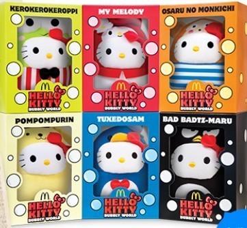 [พร้อมส่ง] เฮลโหลคิตตี้คอลเลกชั่นสะสม Celebration Set Bubbly World Series of Hello Kitty's 40th anniversary เซ็ต 6 ชิ้น ส่งฟรี EMS