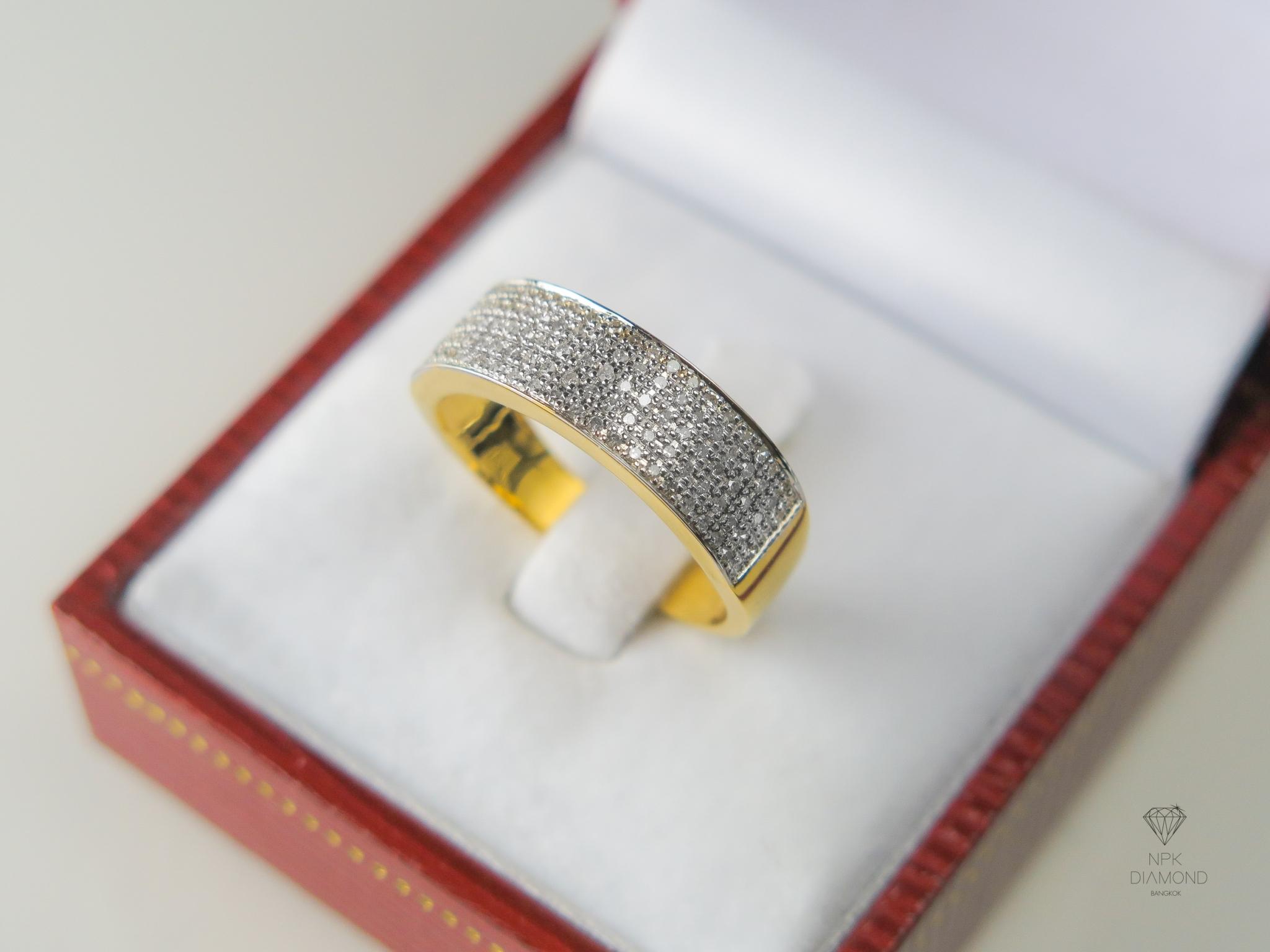 แหวนเพชรแถวหน้าเต็ม 115 เม็ด