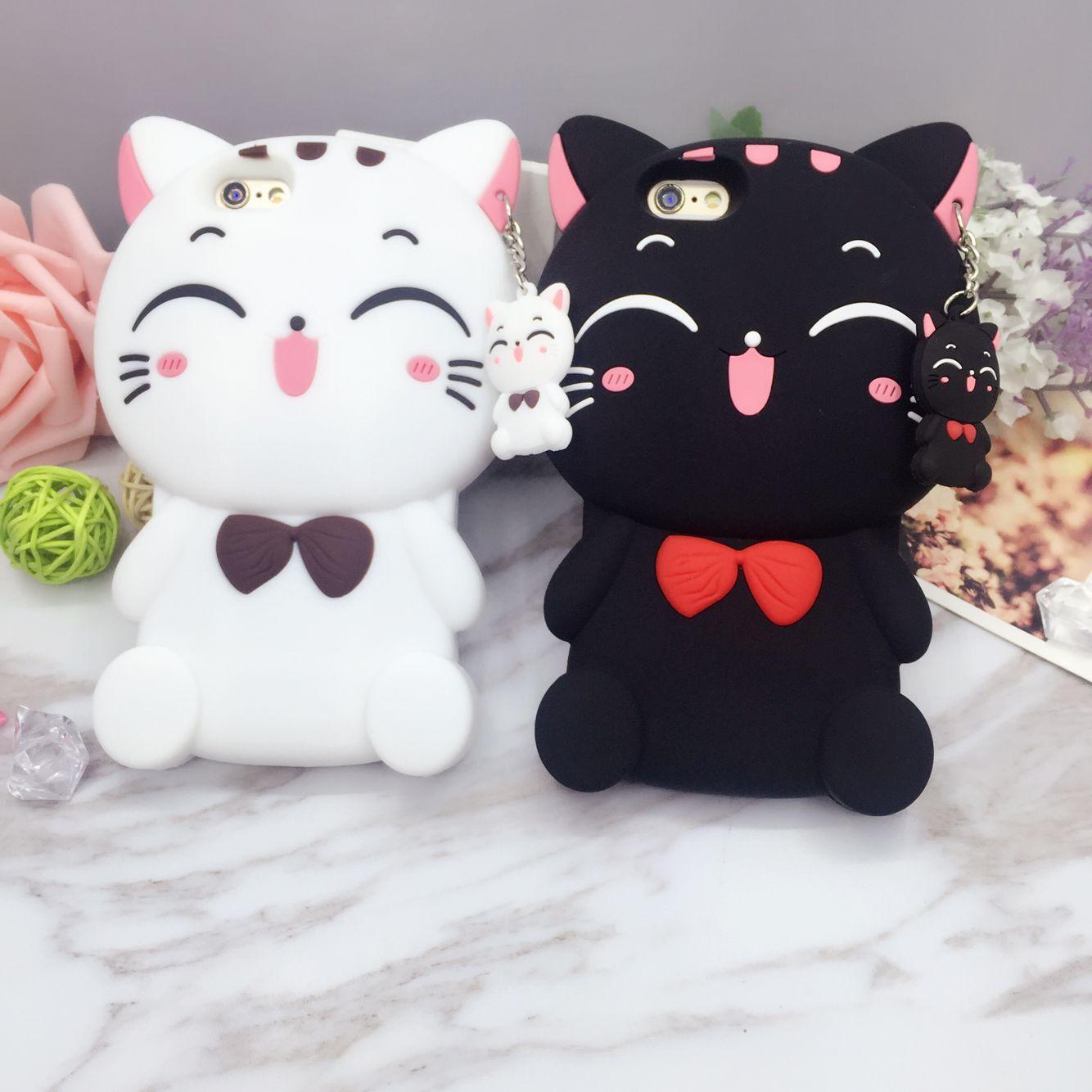 เคสซิลิโคนแมวอ้วน 3D ไอโฟน 7 (4.7 นิ้ว)