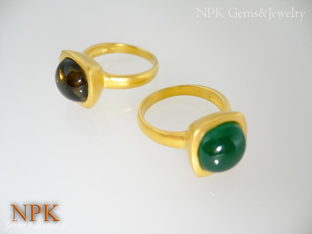 แหวนเงินสโมคกี้และโมรา (Silver ring smoky&agate)