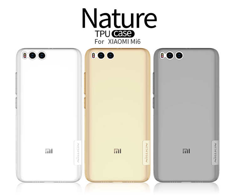เคสมือถือ Xiaomi Mi6 รุ่น Premium TPU case สีขาวใส