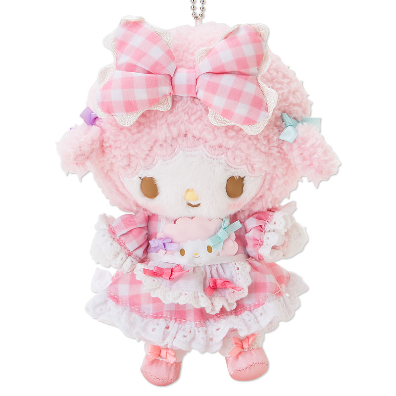 ตุ๊กตาพวงกุญแจแกะน้อยLittle sheep Sweet Piano my melody friend's Lolita Plush Doll Mascot Keychain from sanrio japan