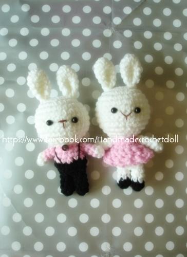 ตุ๊กตาแต่งงาน กระต่ายบ่าวสาว 7 นิ้ว