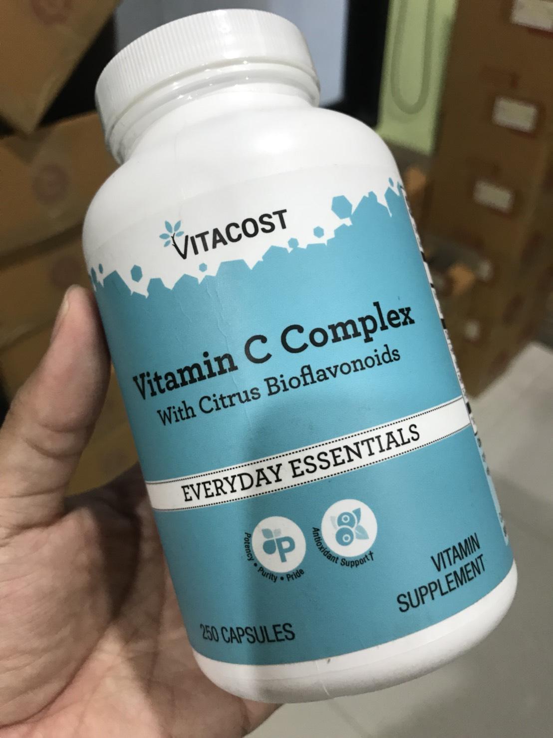Vitacost Vitamin C Complex with Citrus Bioflavonoids -- 1000 mg - 250 Capsules