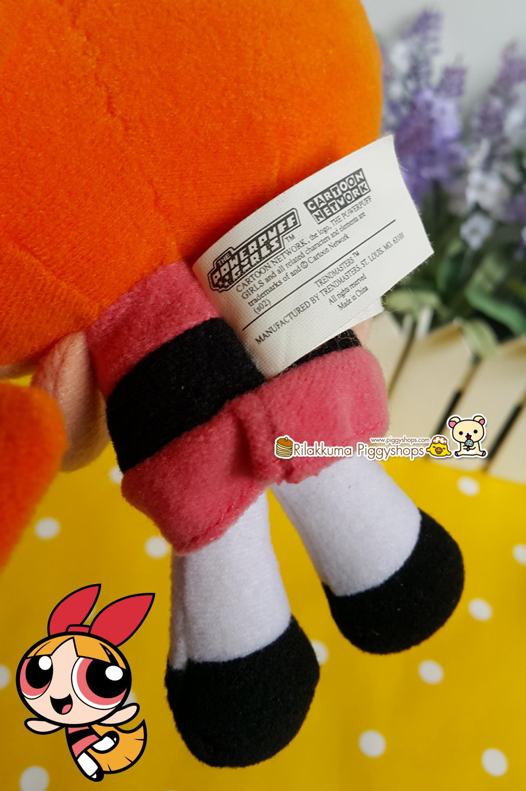 Powerpuff Girls - Blossom plush doll บลอซซั่มสาวน้อยพาวเวอร์พัฟเกริ์ลชุดส้ม