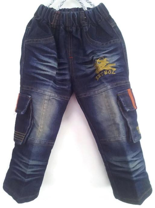 J1049 กางเกงยีนส์เด็กชาย ดีไซส์ลายปักเท่ห์ทั้งด้านหน้า-หลัง เอวยางยืด Size 3-6 ขวบ ขายปลีกในราคาส่งให้เลยจ้า