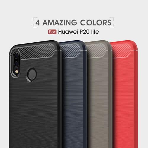 เคส Huawei Nova 3e รุ่น Carbon Fiber Texture