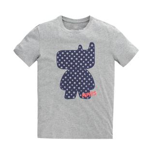 เสื้อลายการ์ตูน แบบ JYJ (สีเทาลายจุด)
