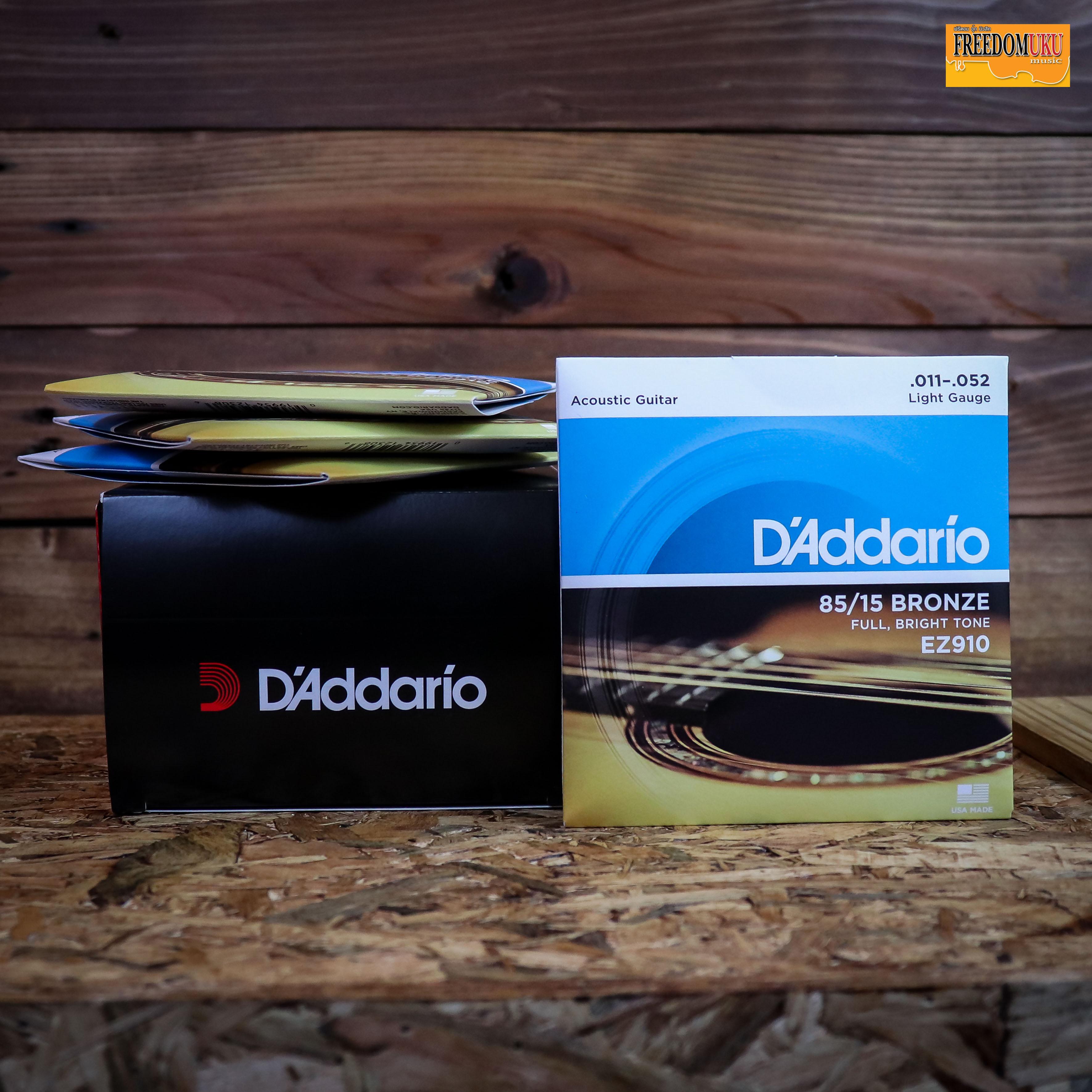 D'Addario สายกีต้าร์โปร่ง เบอร์11 รุ่น EZ910