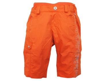 KPSP254-6 Kidsplanet เสื้อผ้าเด็กชาย กางเกงขาสามส่วน เอวซ้อน สีส้ม แถบข้างลายสกรีนแนวสปอร์ต เท่ห์สุด ๆ Size 12M
