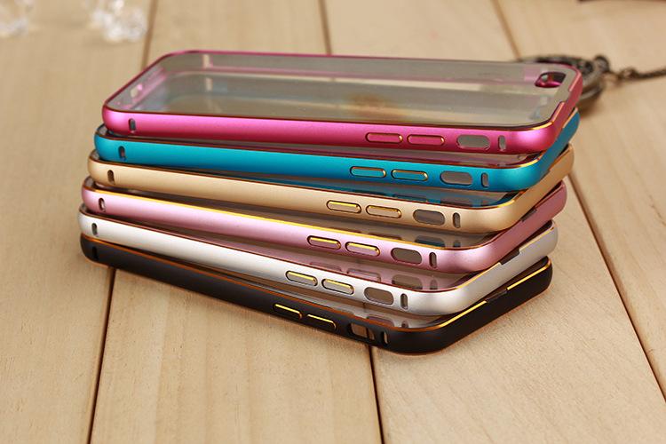 เคสฝาหลังใสเลื่อนไสล์ขอบอลูมิเนียม Iphone 6 4.7 นิ้ว