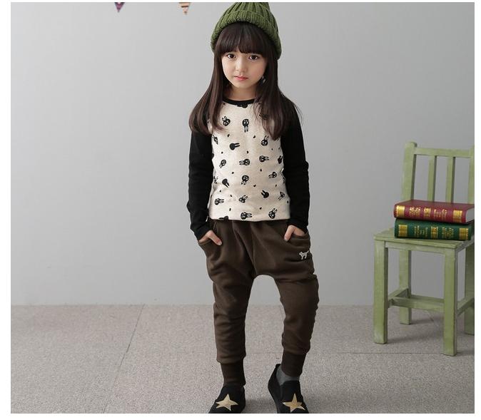 กางเกง(มีขนด้านในอ่อนๆ) สีน้ำตาล แพ็ค 5ชุด ไซส์ 100-110-120-130-140