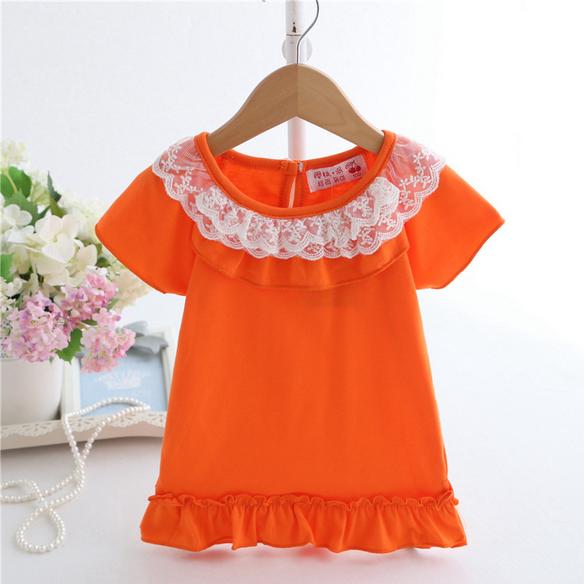 เสื้อ สีส้ม แพ็ค 5ชุด ไซส์ 90-100-110-120-130