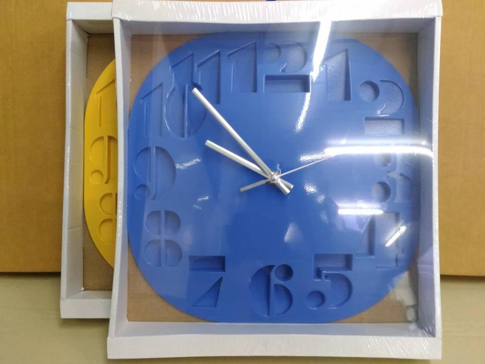 นาฬิกาแขวน 3D Wall clock ขนาด 30cm สีน้ำเงิน ราคารวมส่งEMS