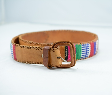 เข็มขัดกัวเตมาลา ( Vintage Guatemalan Leather Belt )
