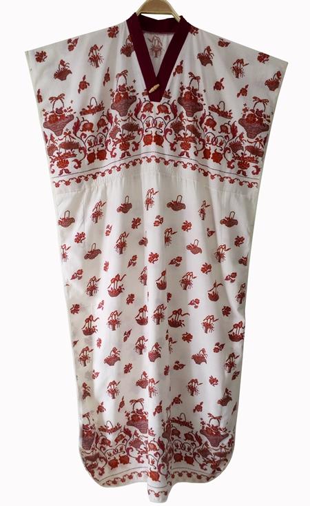 ชุดวินเทจ เดรสยาว Maxi Dress คาฟทาน