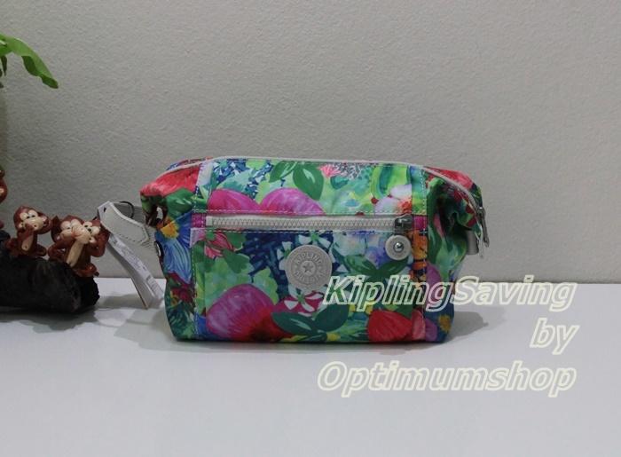 Kipling Aiden Toiletry Bag Tropical Garden กระเป๋๋าใส่ของจุจิกใบใหญ่ ขนาด 11.25 x 5.5 x 4 นิ้ว