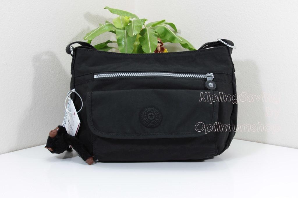 Kipling Syro Black กระเป๋าสะพายข้าง ทรงสวย เหมาะกับสาวหวานๆ ขนาด L12.25 x H 8.75 x D 5 นิ้ว
