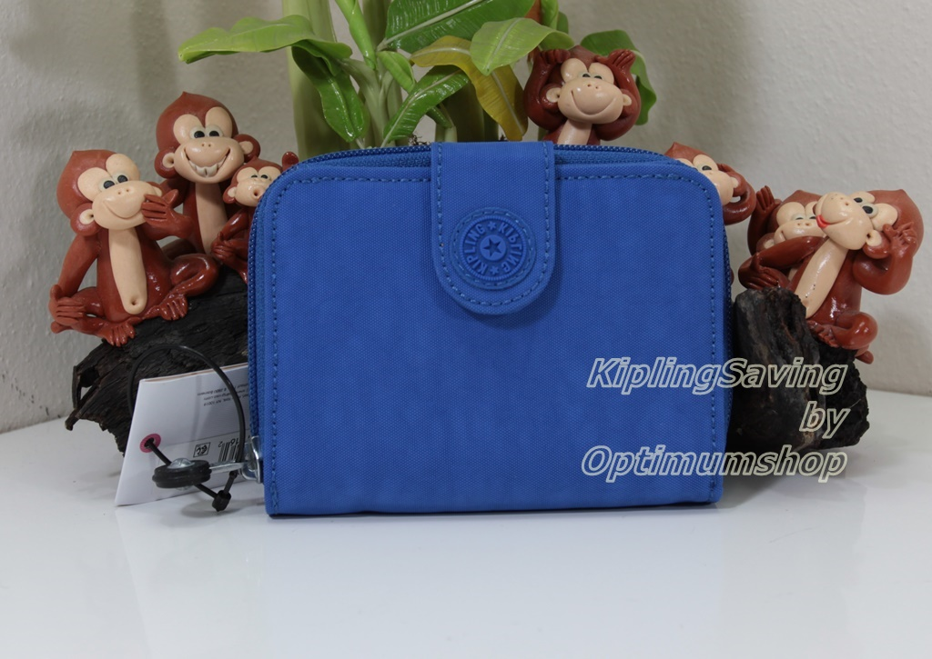 Kipling New Money Sailor Blue เป็นกระเป๋าสตางค์ ขนาดกระชับมือ ขนาด 4 x 5.25 x 1 นิ้ว สำเนา