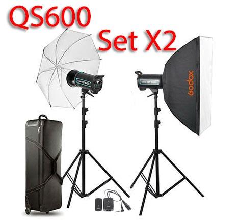 QS600 Set 600W X2 Professional Flash Godox Studio Kit ชุดแฟลชสตูดิโอ