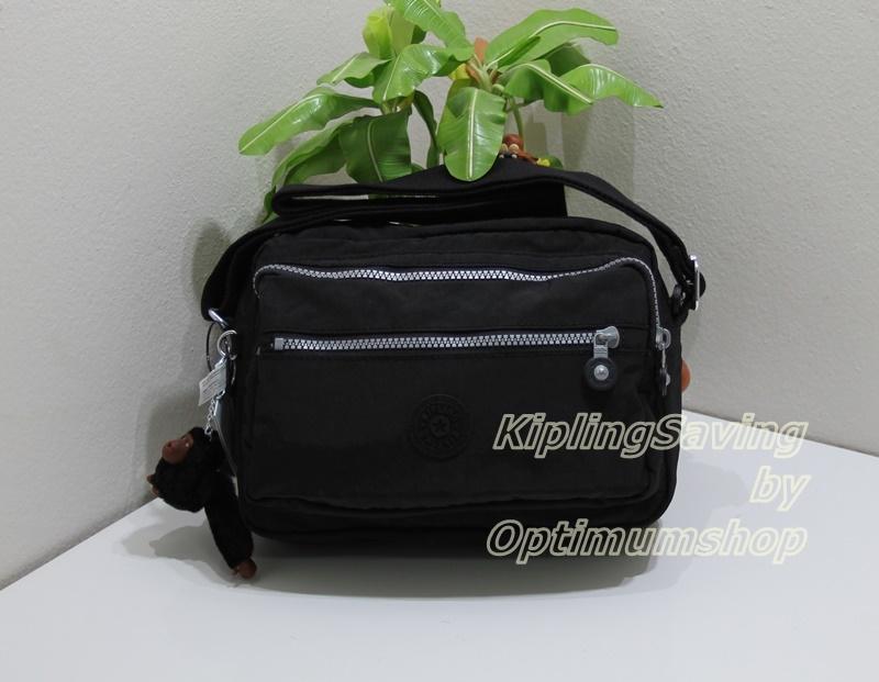 Kipling Deena Black กระเป๋าสะพายคล้ายรุ่น Reth ขนาด 10 x 7.5 x 5 นิ้ว
