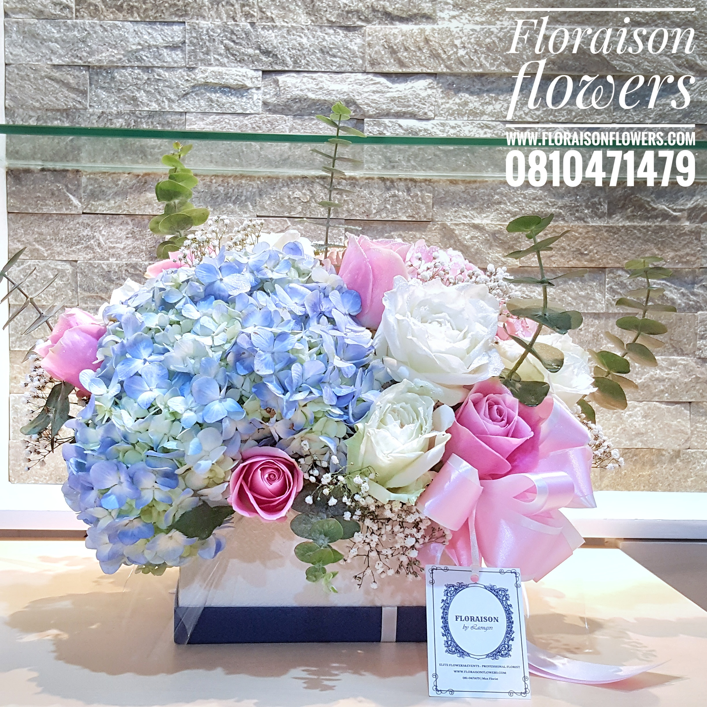Floraison box white & blue (M)