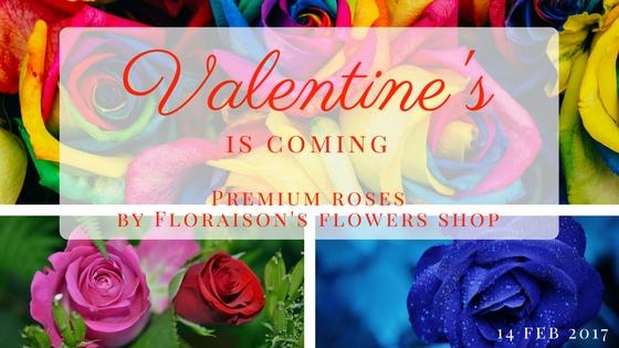 ดอกกุหลาบสวยๆ สำหรับวันวาเลนไทน์ จากร้านดอกไม้ ฟลอเรซอง