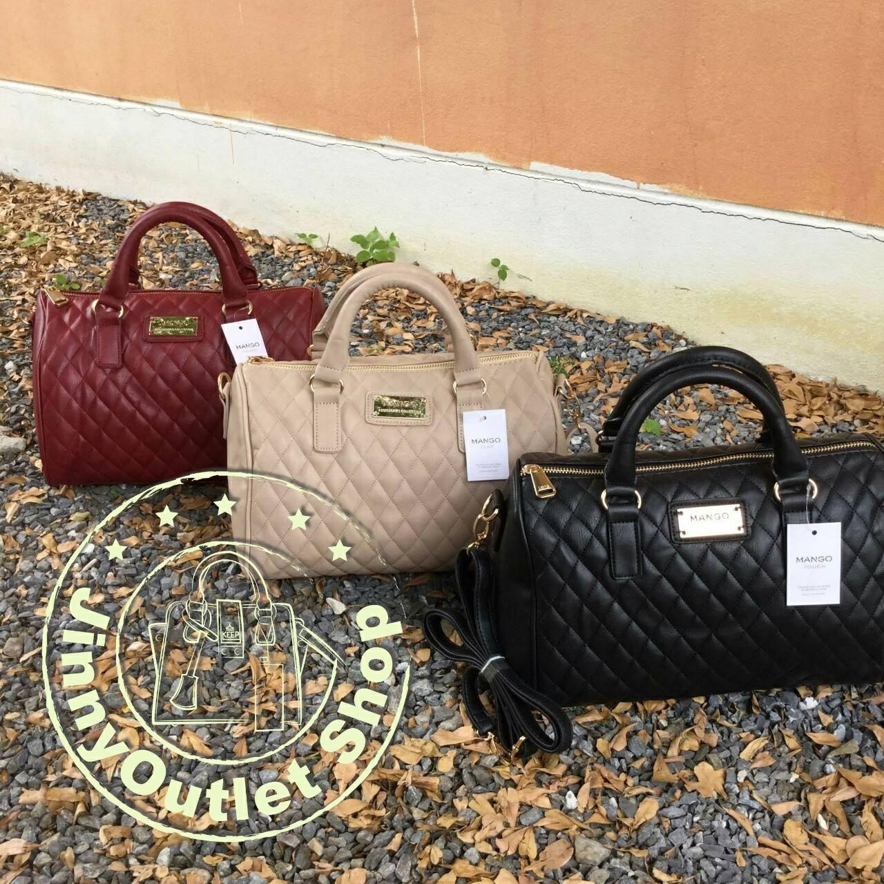 MANGO ( Quilted Bowling Handbag )