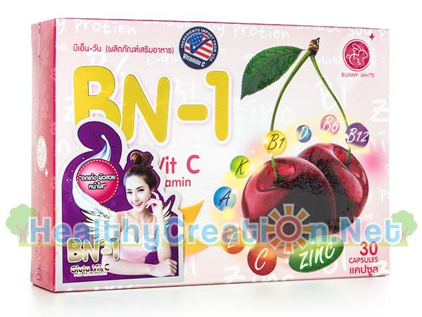 BN 1 Gluta Vit C บีเอ็น วัน กลูต้า วิท ซี [30 แคปซูล] ปรับสมดุลฮอร์โมน ดูแลผิวพรรณให้ขาว ใส เนียน กระชับ