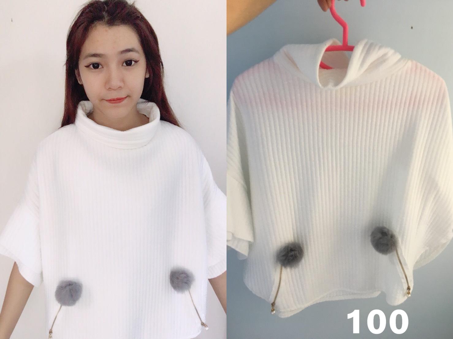 เสื้อสีขาว ใส่ครั้งเดียว ถ่ายตอนหน้าหนาว