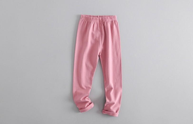 W036 : กางเกงสกินนี่ขายาวสีชมพู (3,4,5,6)