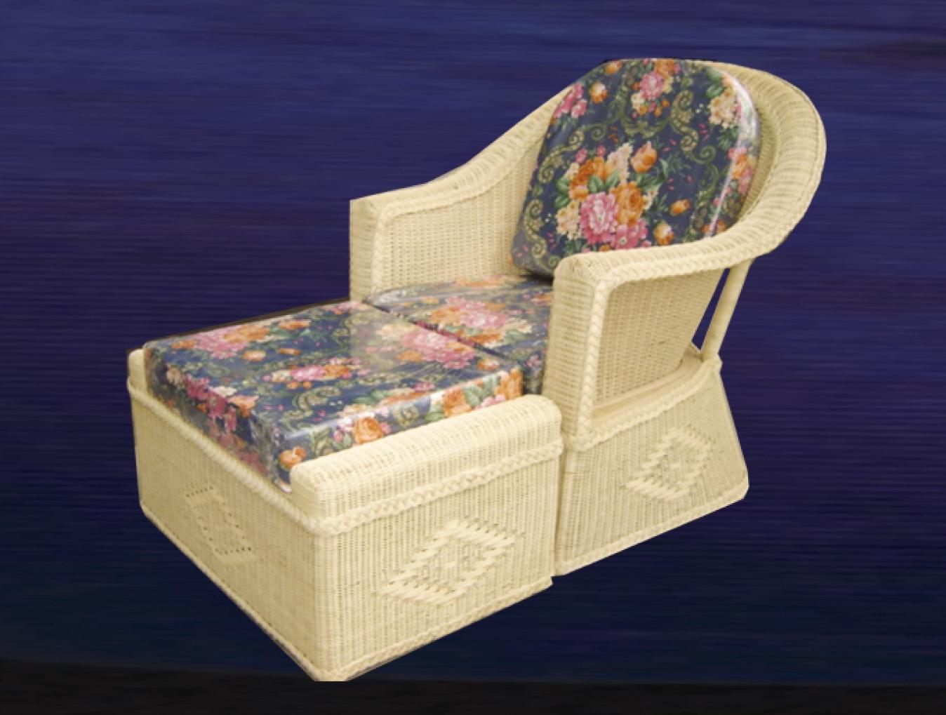 เก้าอี้พักเท้าหวาย