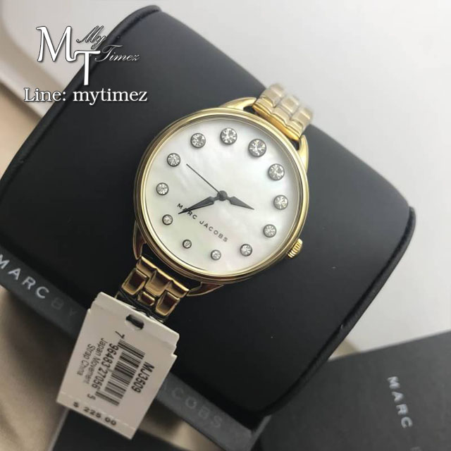 นาฬิกาข้อมือ MARC BY MARC JACOBS Betty White Mother Of Pearl Dial Ladies Watch MBM3509