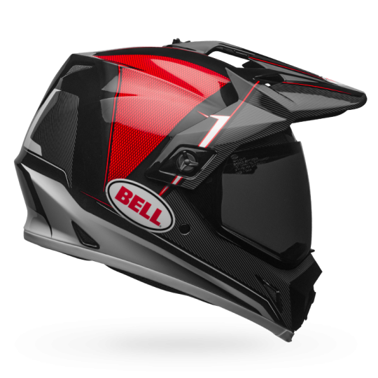 BELL MX-9 ADVENTURE MIPS BERM BLACK WHITE RED