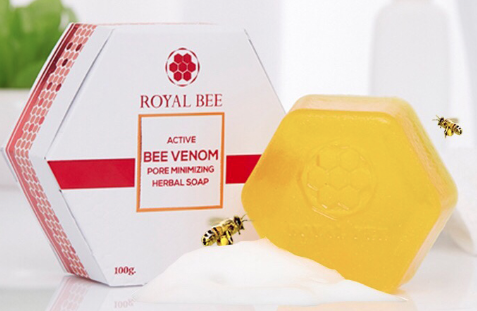 สบู่พิษผึ้ง ACTIVE BEE VENOM PORE MINIMIZING HERBAL SOAP